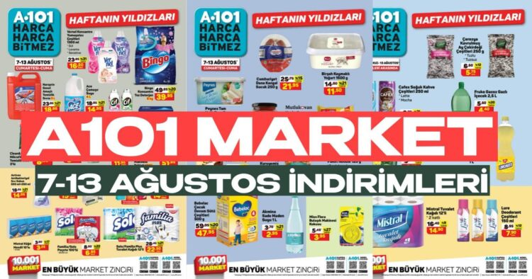 A101 market 7-13 ağustos inanılmaz indirim günleri başladı