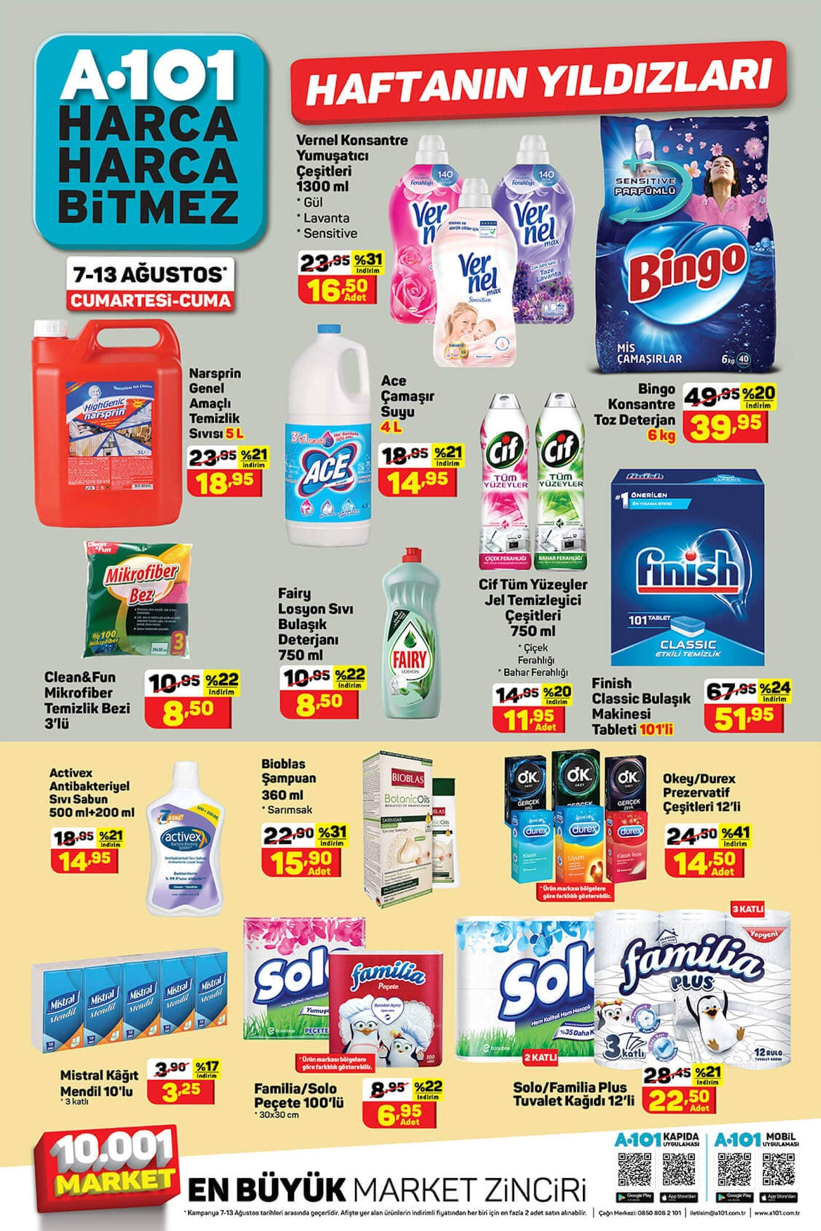 a101 temizlik ürünleri indirimli ürünler hangileri