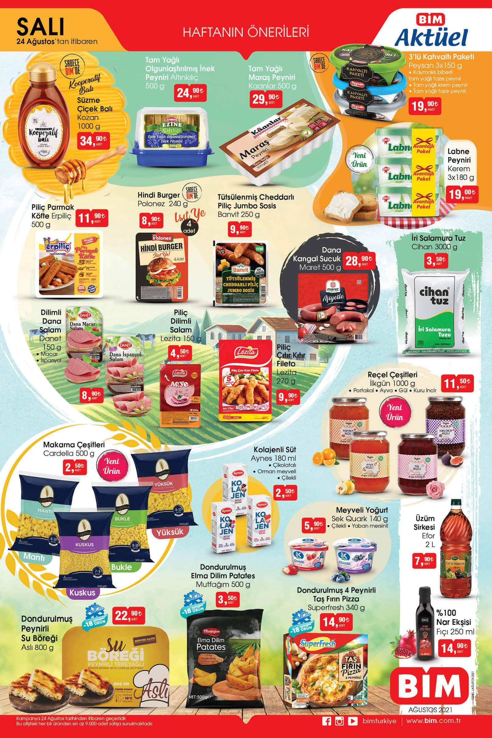 bim market 24 ağustos dev indirimli ürünler