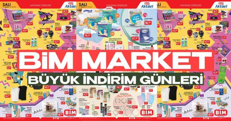 bim market 31 ağustos aktüel ürünler indirimleri kataloğu