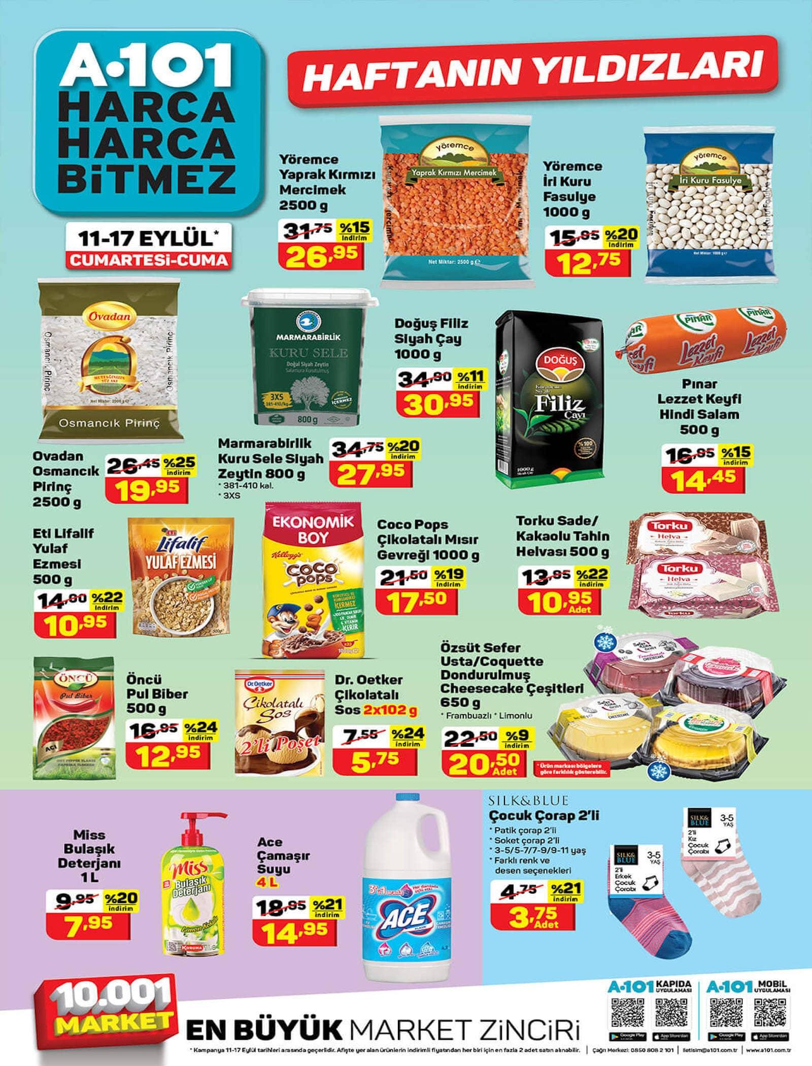 A101 market 11-17 Eylül aktüel ürünler kataloğu yayınlandı