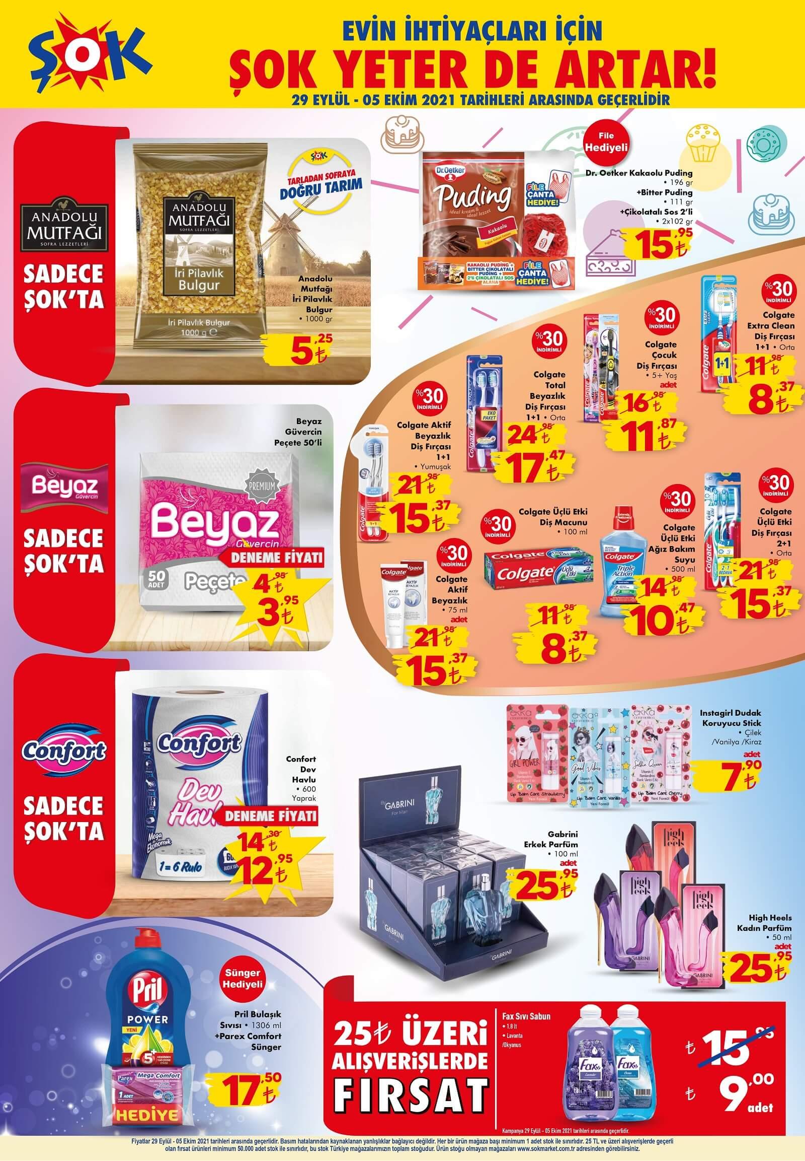 ŞOK Market 29 Eylül 5 Ekim Aktüel Kataloğu Yayınlandı