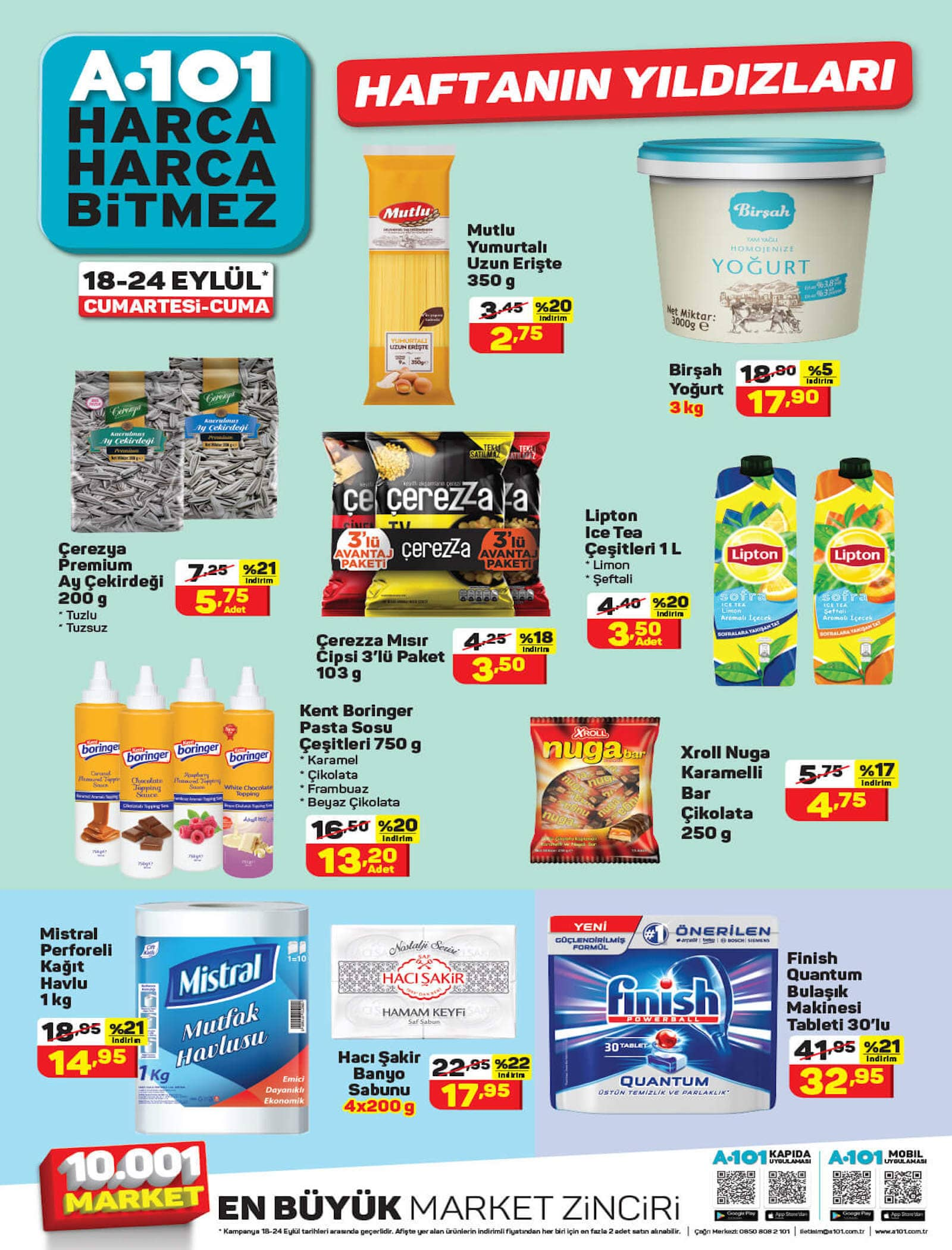 a101 market 18-24 eylül aktüel ürünler kataloğu indirimli ürünleri
