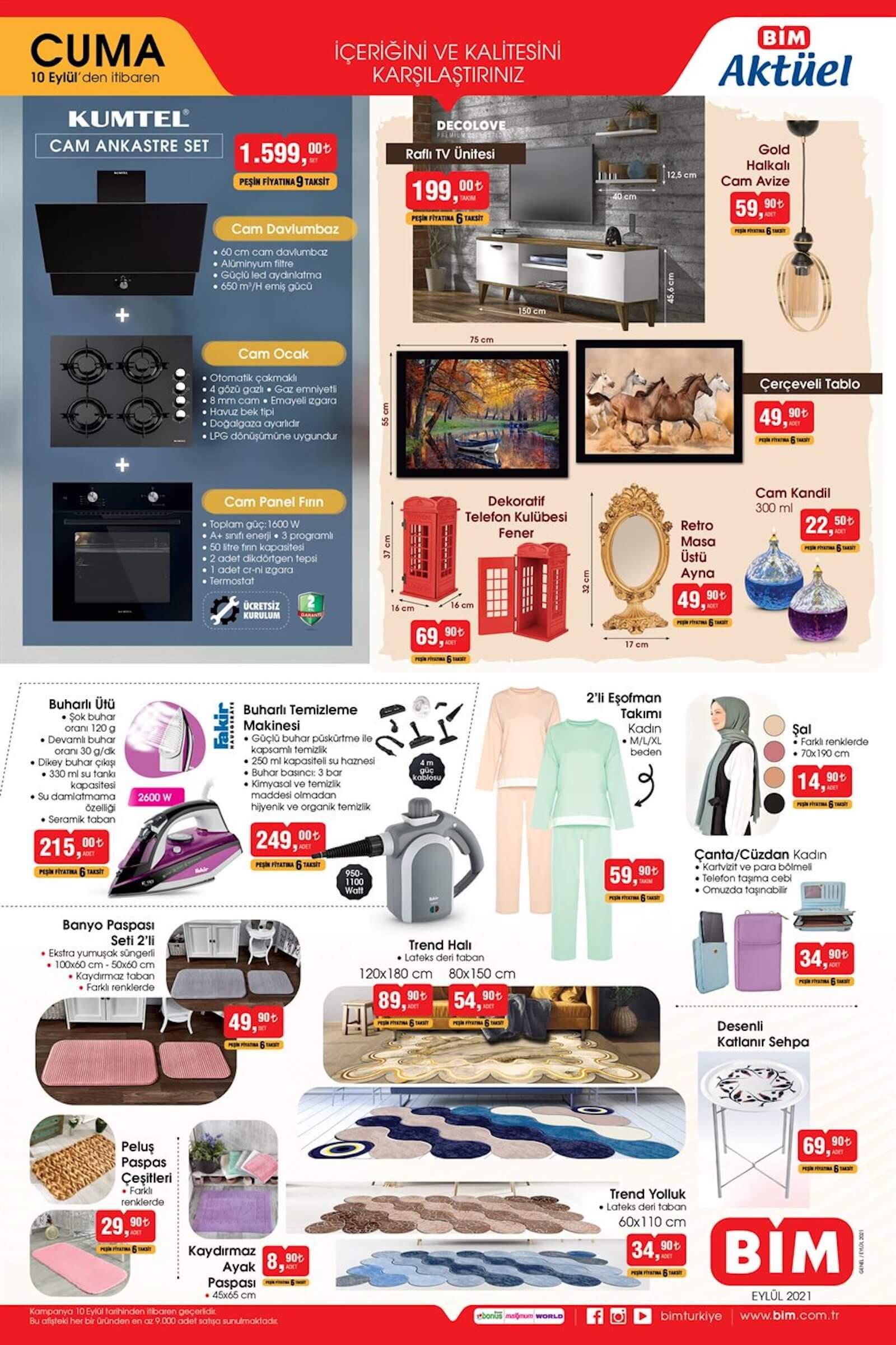 bim market 10 eylül aktüel ürünler kataloğu yayınlandı