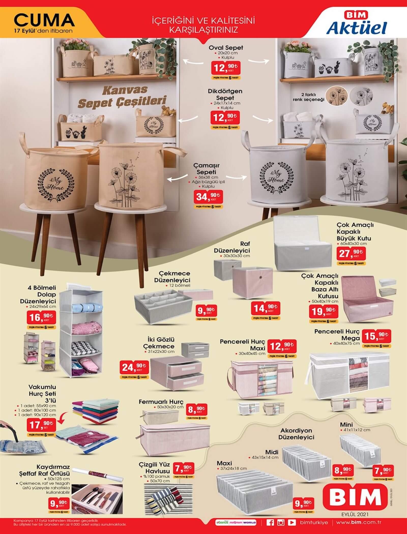 bim market 17 eylül aktüel ürünler kataloğu yayınlandı