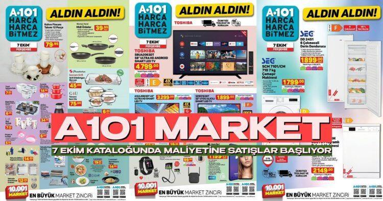 A101 Market Çıldırdı! A101 7 Ekim Aktüel Kataloğunda Rakiplerini Delirtecek Devasa İndirimler