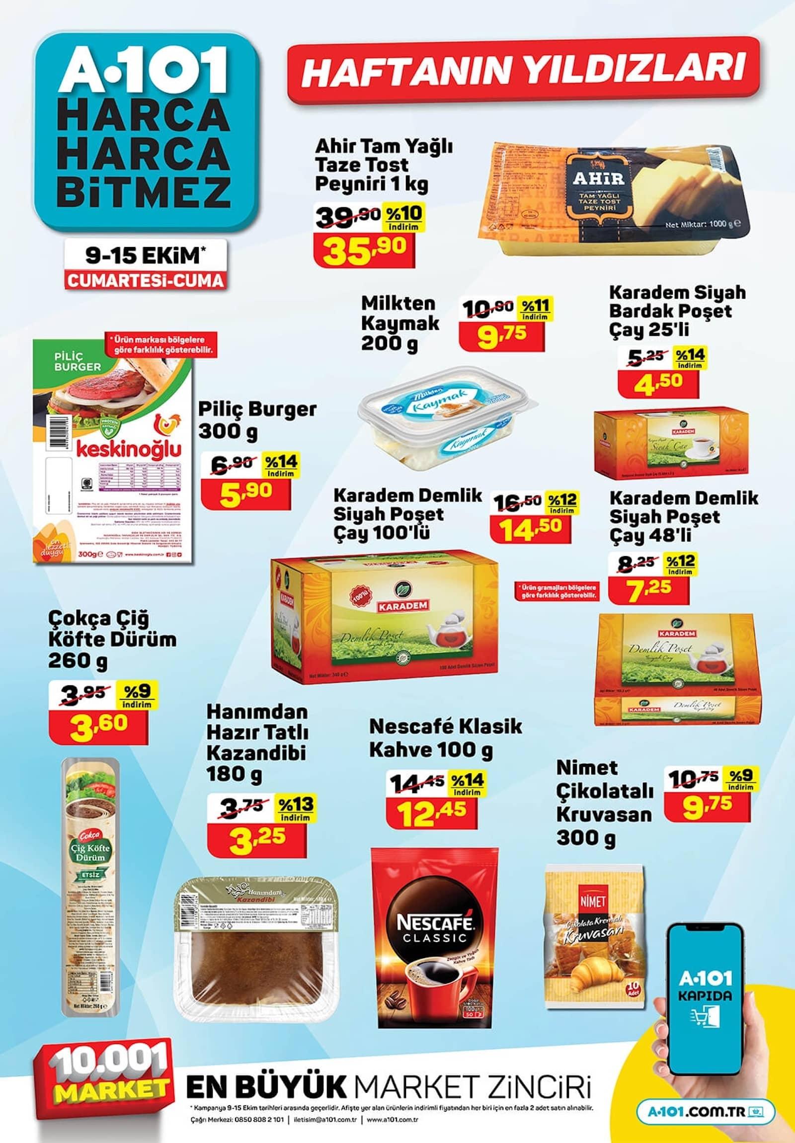 A101 Market 9-15 Ekim Aktüel Ürünler Kataloğu Çıktı