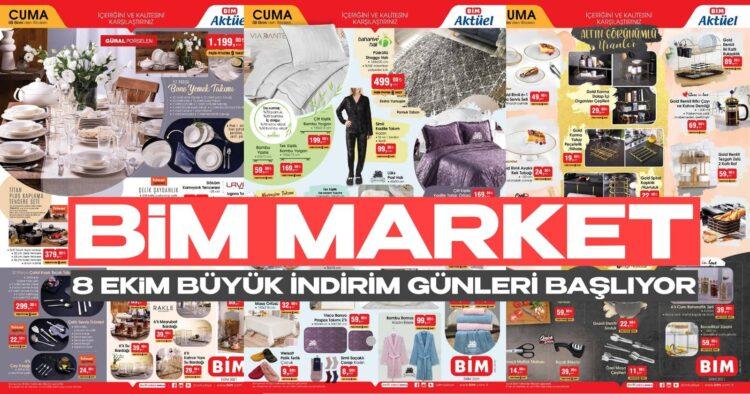 BiM Market 8 Ekim Büyük İndirim Günleri Başlıyor! BiM Rafları Bu Fiyatlara Dayanamaz
