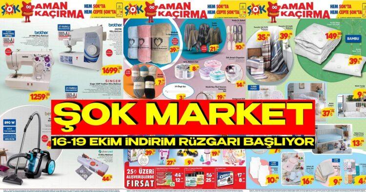 ŞOK Market 16- 19 Ekim Yeni Aktüel Kataloğu. ŞOK, Ezdi Geçti!