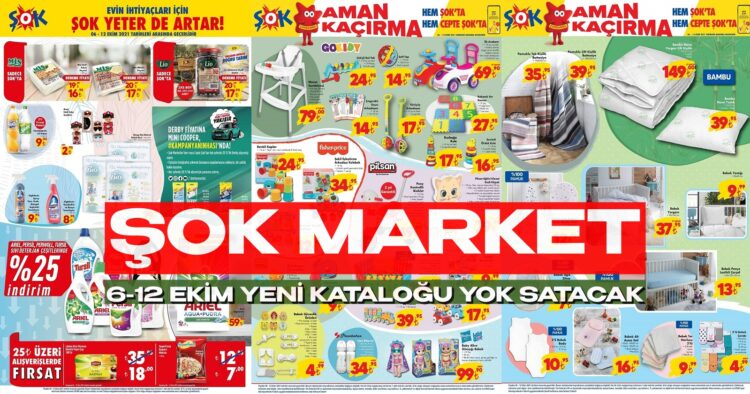 ŞOK Market 6 Eylül Yok Satacak İndirimli Aktüel Kataloğu! ŞOK Süper İndirimleri Başlıyor