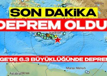 Son Dakika! Ege'de 6.3 Şiddetinde Deprem Oldu! Bölgede Panik Havası Hakim