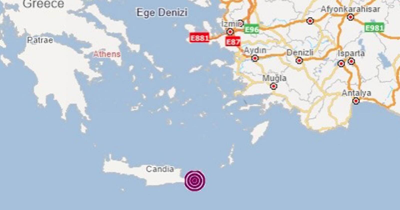 Yunanistan'ın Girit adasında 6.3 şiddetinde deprem meydana geldi